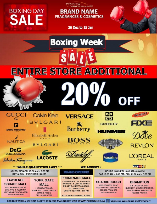 Boxing Week Specials - ends Tuesday!