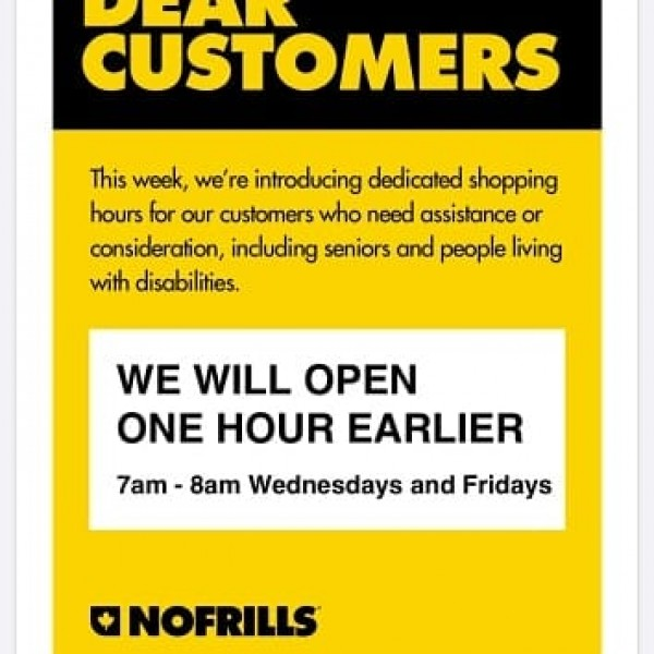 Note re Dedicated Shopping Hours