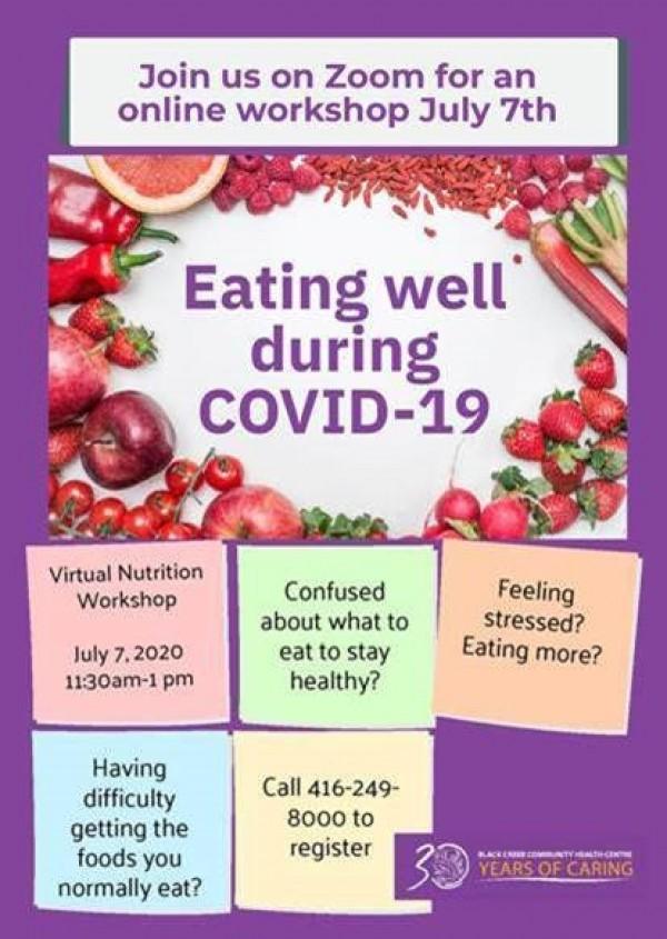 Eating Well - Online Workshop July 7