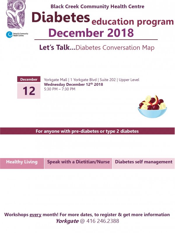 Diabetes Education - Wed Dec 12