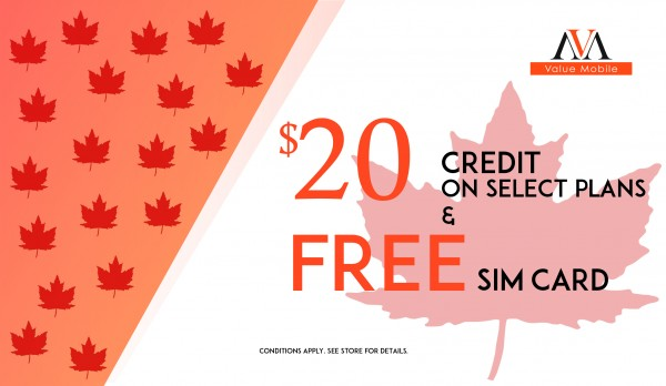 Canada Day Promotions on Now!