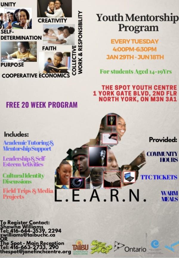 L.E.A.R.N - Youth Mentorship Program