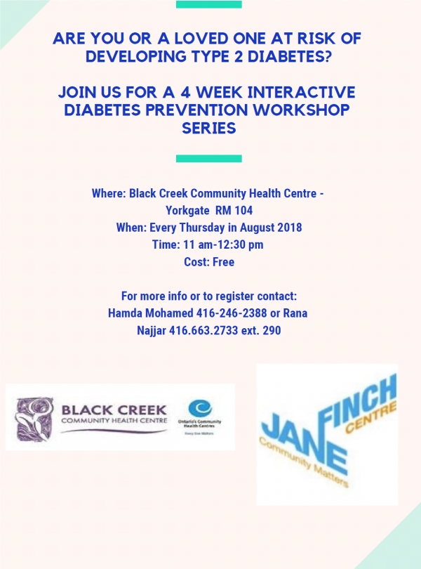Diabetes Workshop every Thursday!
