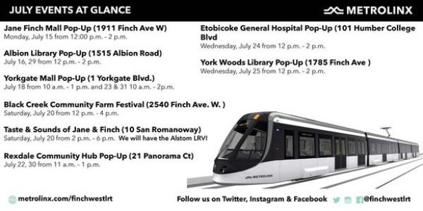 Metrolinx Pop Up Info Events!