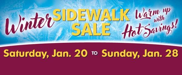 Winter Sidewalk Sale starts Saturday!